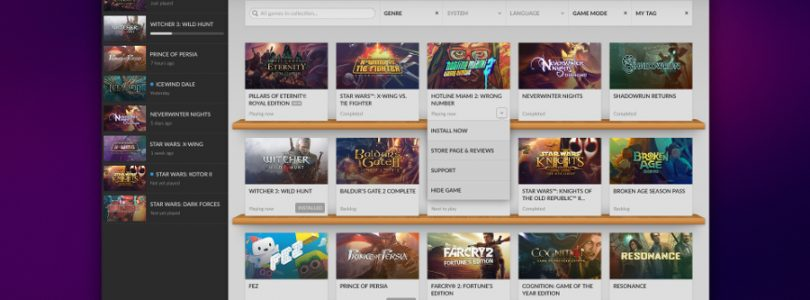 GOG's DRM-Free Steam Competitor Now Open to Public