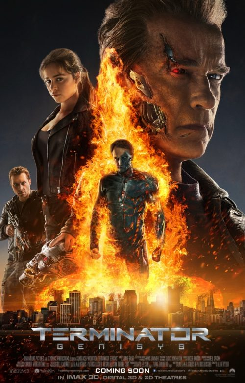 New Terminator Genisys Poster featuring Robot John Connor