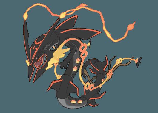 Rayquaza shiny mega evolution