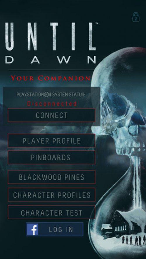 Until Dawn Companion App Out Now