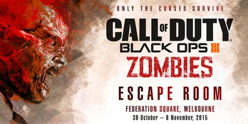 Activision Setting up Zombie Escape Room in Melbourne ahead of Call of Duty: Black Ops III Launch