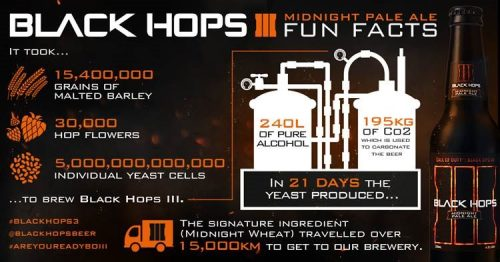 CALL OF DUTY: BLACK HOPS III – MIDNIGHT PALE ALE ON SALE TODAY – 1:00PM AEST, 2ND NOVEMBER