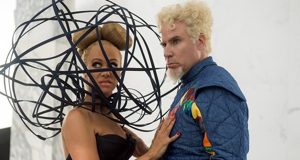 Kristen Wiig plays Alexanya Atoz and Will Ferrell plays Mugatu in Zoolander No. 2 from Paramount Pictures.