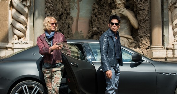 Owen Wilson plays Hansel and Ben Stiller plays Derek Zoolander in Zoolander No. 2 from Paramount Pictures.