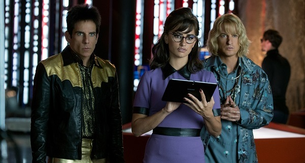 Ben Stiller plays Derek Zoolander, Penelope Cruz plays Valentina Valencia and Owen Wilson plays Hansel in Zoolander No. 2 from Paramount Pictures.