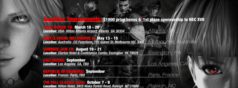 Dead or Alive 5: Last Round Battle Royal 2016 Tournament Schedule Announced