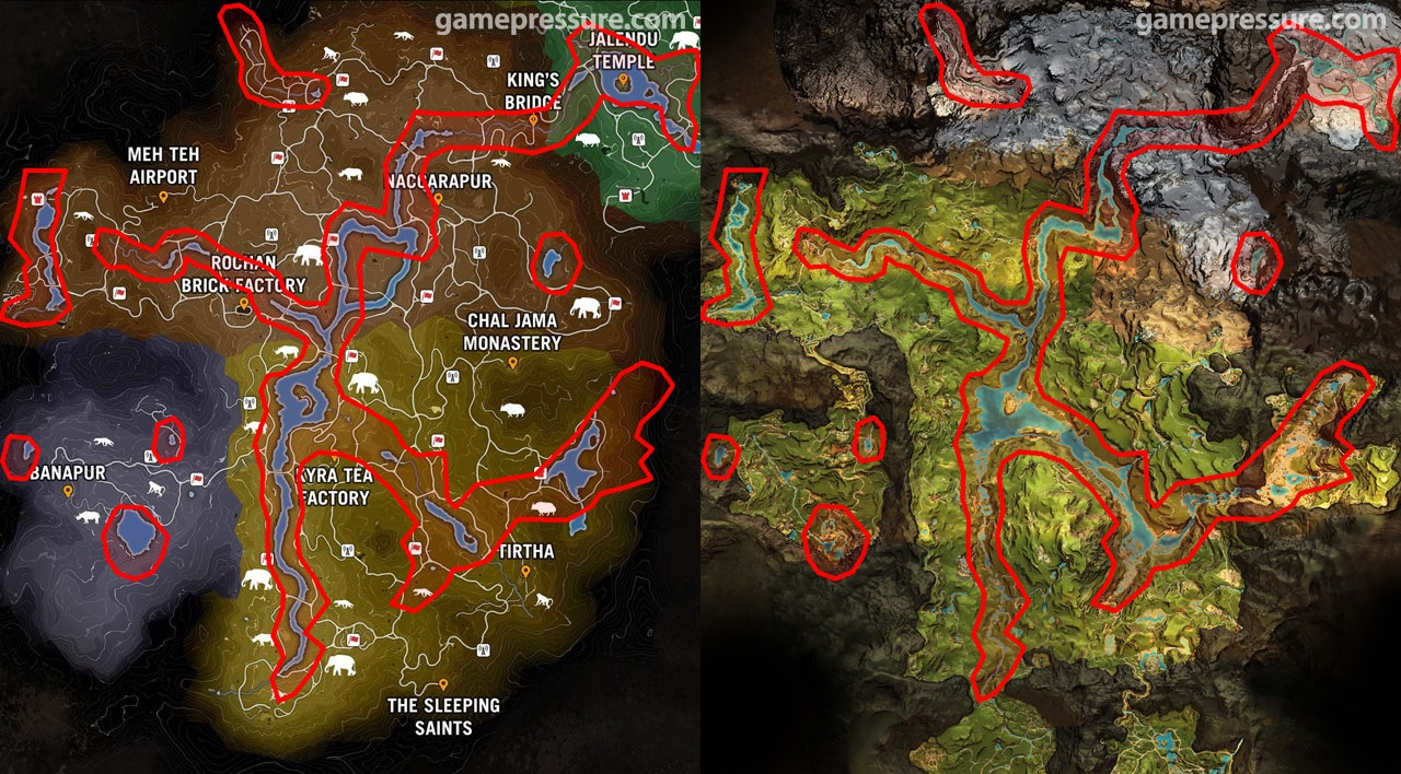 fallout 3 map comparison with Far Cry Primal Map Recycled From Far Cry 4 on The tsar bomba mushroom cloud in russia seen from additionally Nuclear War Survival as well 25 Funny Detroit Memes in addition Witcher 3s Blood And Wine Map  pared To Wild Hunt in addition Star Wars Battlefront Looks Really Beautiful In 4k Resolutions.