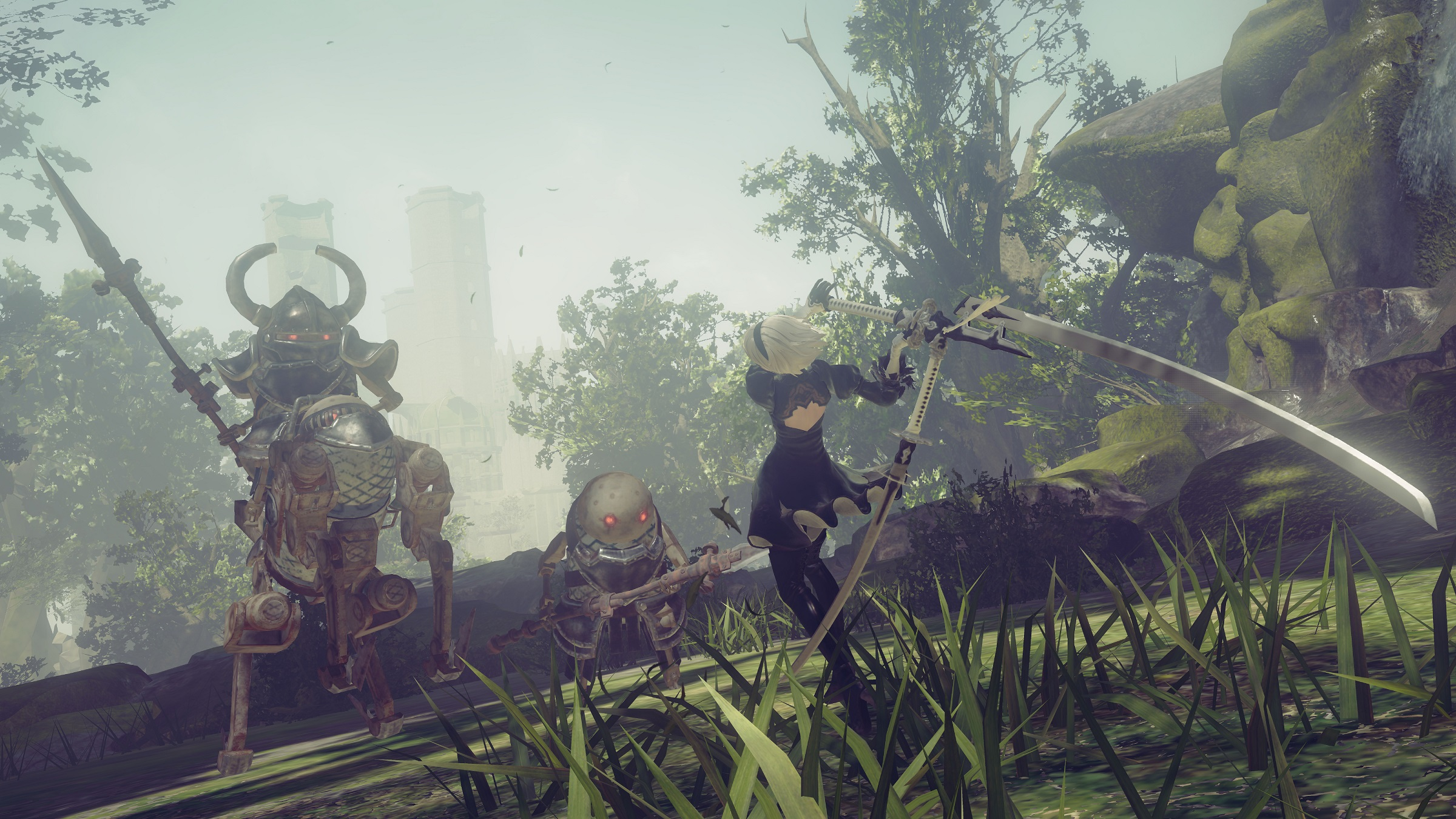nier automata forest screenshots released � capsule computers