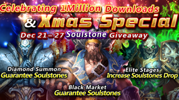 Heroes of the Dungeon Celebrates A Million Downloads with Holiday Update
