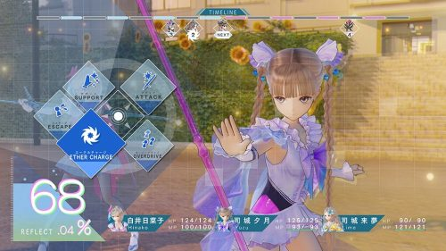 Blue Reflection Combat Footage Released