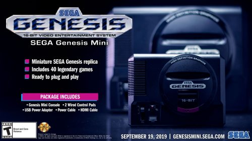 Sega Genesis Mini Western Release Detailed; First 10 Games Announced