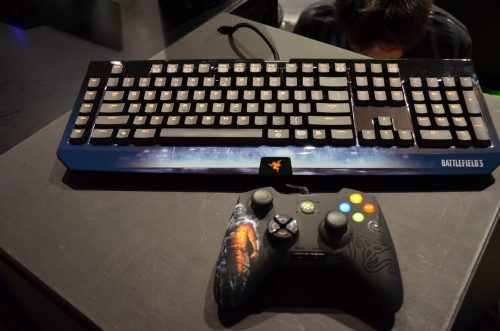 Battlefield 3 Razer Black Widow Ultimate & Onza Controller – TGS 2011
