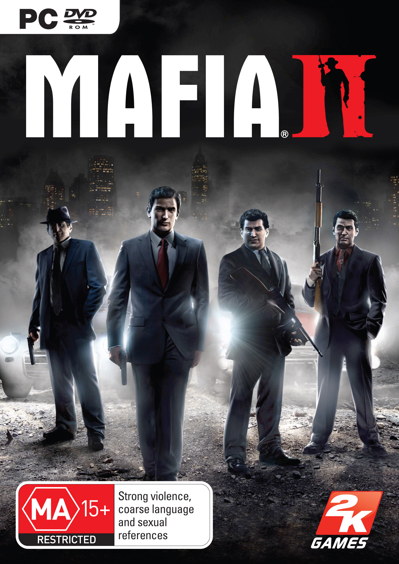 Обложка PC версии игры Mafia 2.