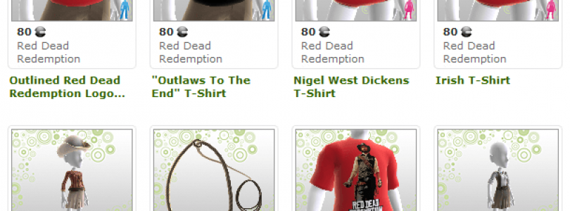 Giddyup Xbox Avatar Clothing now available for Red Dead Redemption