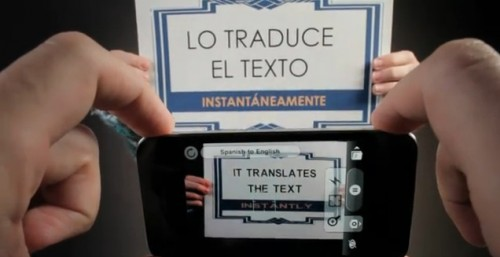 Word Lens, a Spanish Teacher's Nightmare