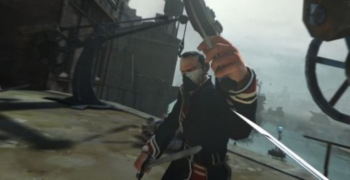 Dishonered screenshot hints at gun and sword combat