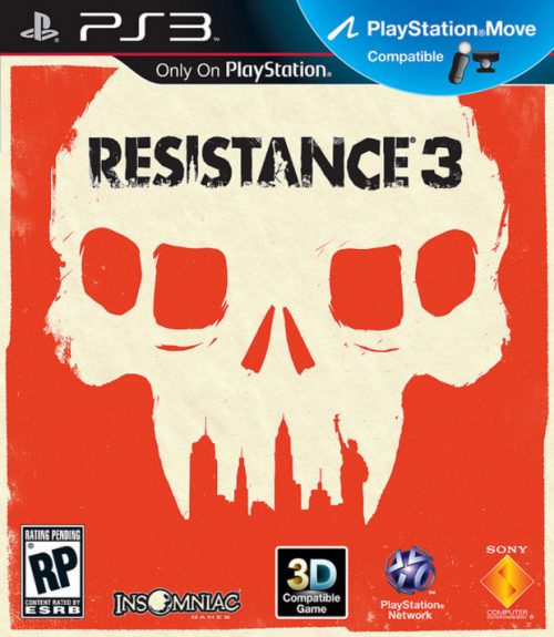 Resistance 3's box art drawn by Olly Moss