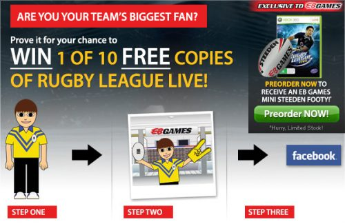 Win a copy of Rugby League Live from EB Games!