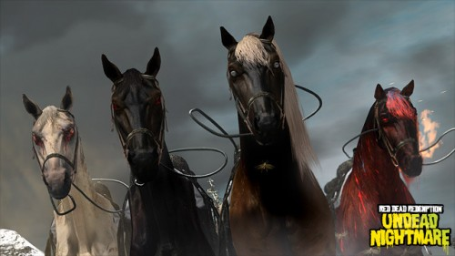 Red Dead Redemption Undead Nightmare brings the four horses of the apocalypse