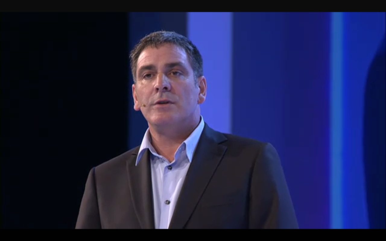 Laurent Fischer at the Australian 3DS launch
