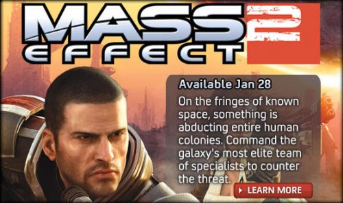 Mass Effect 2 Out Jan 28