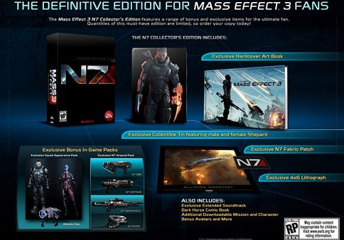 Mass Effect 3 N7 Collector's Edition contents revealed