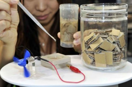 Sony Showcases Bio Battery Powered by Shredded Paper