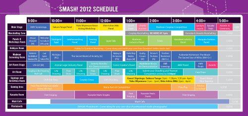 SMASH! 2012 Schedule