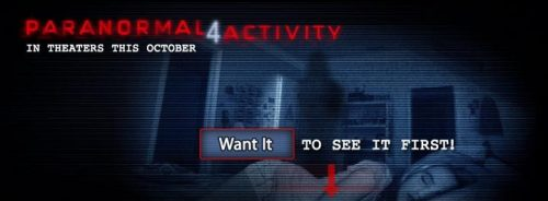 Have Paranormal 4 Activity Debut In Your City