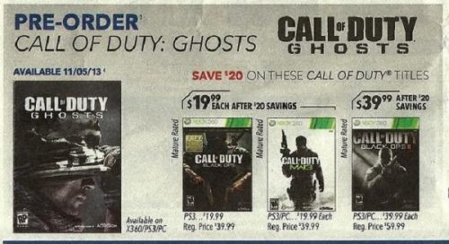 Call of Duty: Ghosts release date leaked online