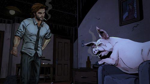 The Wolf Among Us' first screenshots feature a smoking pig