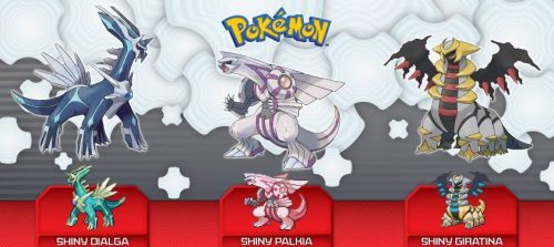 UK Game Stores to Giveaway Shiny Dialga, Palkia and Giratina