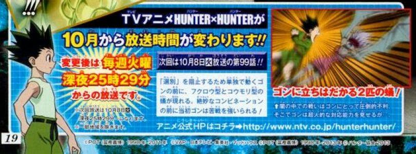 Hunter x Hunter anime moving to late night