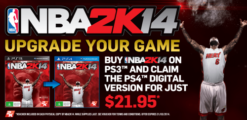 NBA 2K14 gets PS3 and PS4 upgrade offer