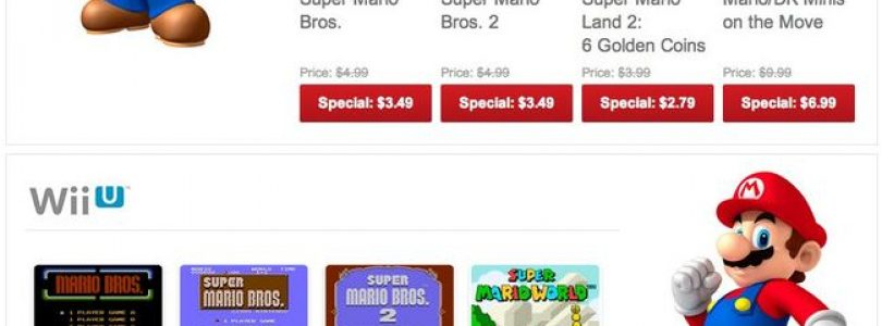 Mario-Centric Nintendo eShop Sale Starts Today