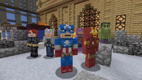 Minecraft Showcases Marvel Skin Pack in New Trailer