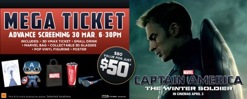 Captain America: The Winter Soldier Mega Ticket Event, Early Screening from Event Cinemas