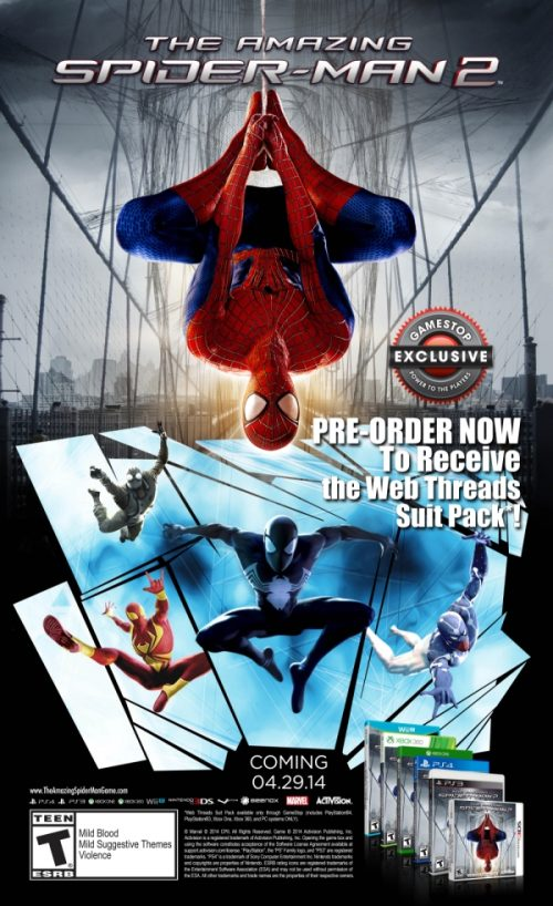'The Amazing Spider-Man 2' Gets GameStop Pre-Order Bonus