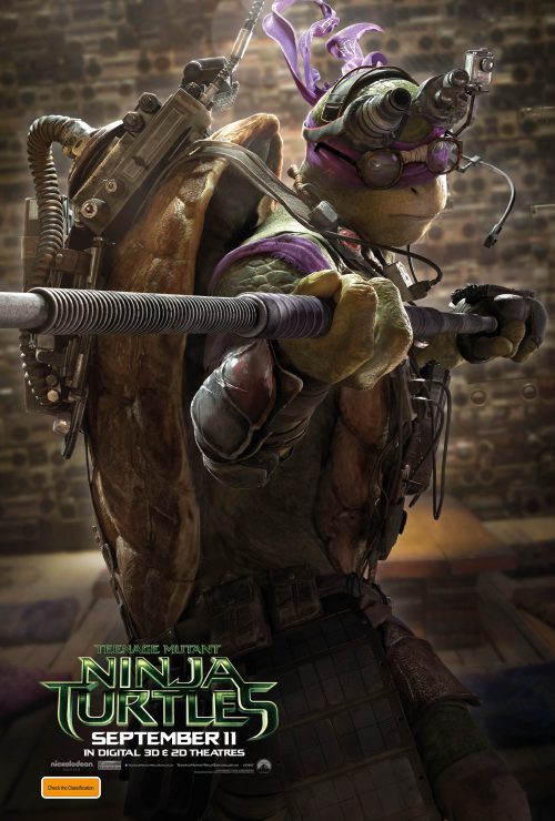 New Trailer and Character Posters for Teenage Mutant Ninja Turtles