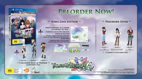 Tales of Hearts R pre-order and Day One bonuses revealed for PAL regions