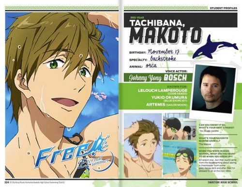 Johnny Yong Bosch to voice Makoto in Free! Eternal Summer