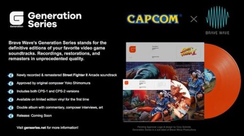 Brave Wave Productions to Release Remastered 'Street Fighter II' Arcade Soundtrack