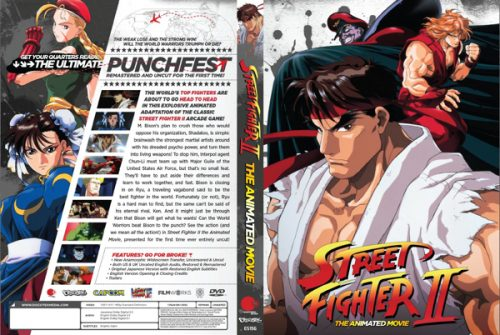 Discotek Reveals the Final DVD Artwork for 'Street Fighter II: The Animated Movie'