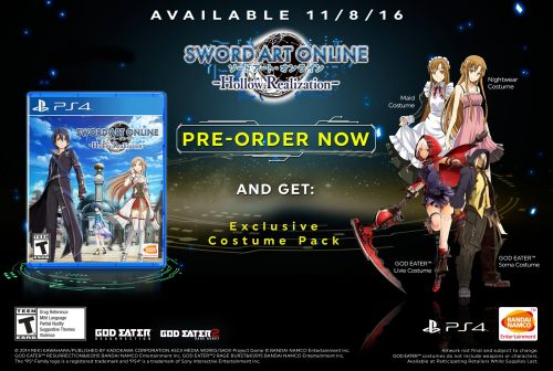 Sword Art Online: Hollow Realization Arrives in the West November 8th