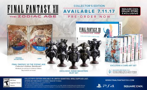 Final Fantasy XII: The Zodiac Age Limited Editions Revealed