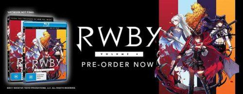 Australian Release of 'RWBY' Volume 4 Set for June 8, 2017