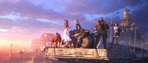Final Fantasy VII Remake Key Visual Highlights Main Characters
