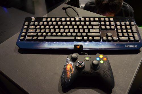 Battlefield 3 Razer Black Widow Ultimate & Onza Controller – TGS 2011