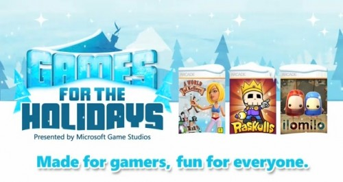 Games for the Holidays schedule and trailer
