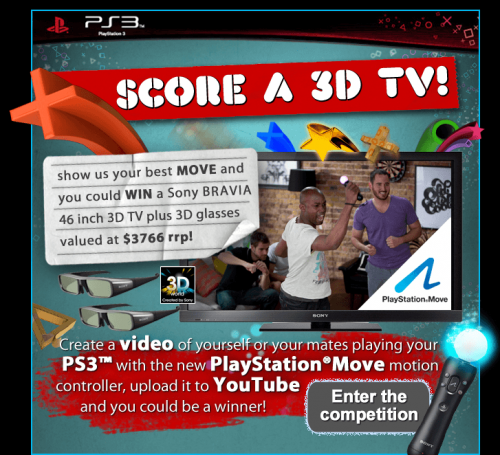 Score yourself a 3D TV with PlayStation Move‏